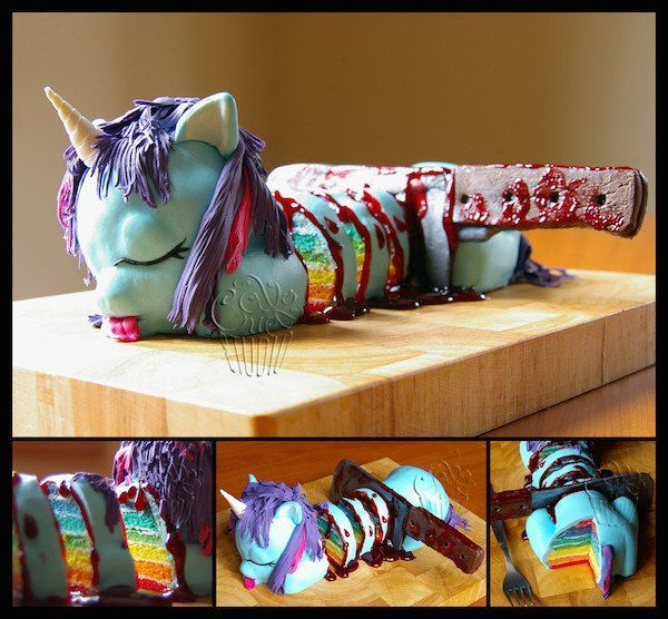 Un gâteau licorne ambiance Game of Thrones…