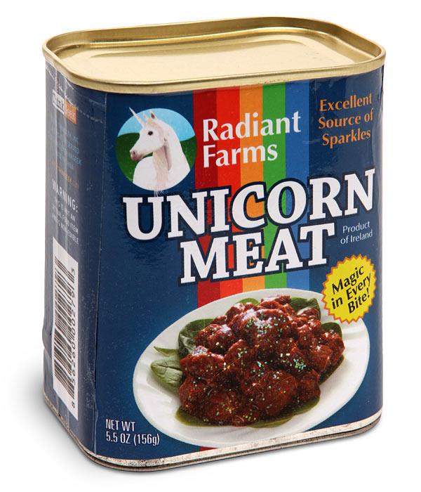De la viande de licorne en boîte pour briser le coeur des vegans