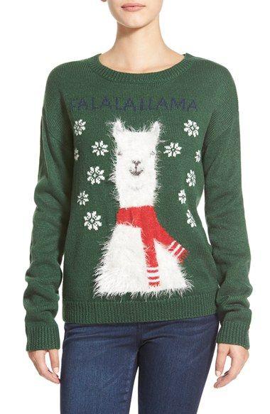 Pullde Noël : les lamas c'est trop tendance cette année