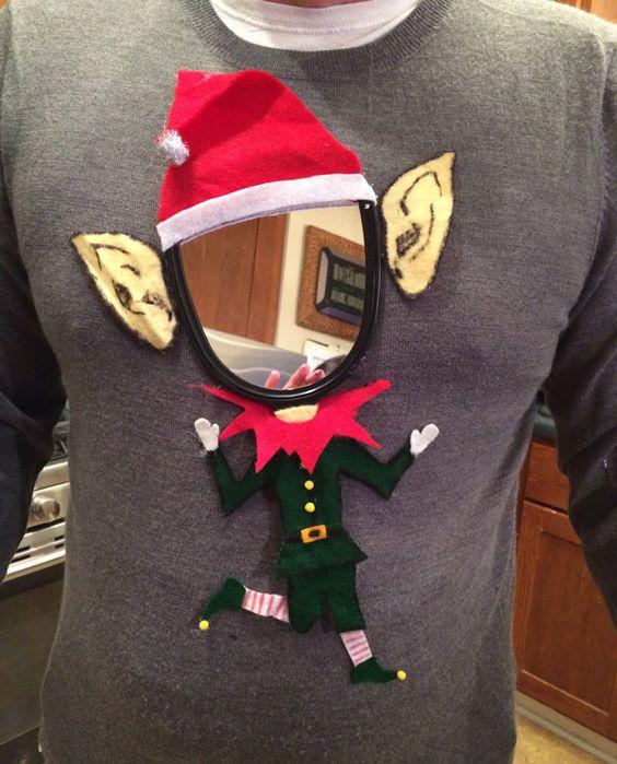 Le pull de Noël avec une grosse, grosse carotte